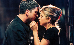Friends David Schwimmer (Ross) and Jennifer Aniston (Rachel)