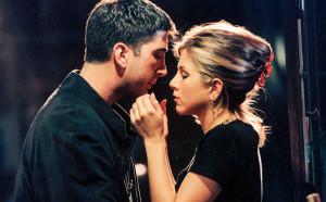 Friends David Schwimmer (Ross) and Jennifer Aniston (Rachel)