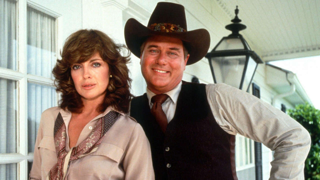 Sue Ellen Ewing (Linda Gray) and Jr Ewing (Larry Hagman)