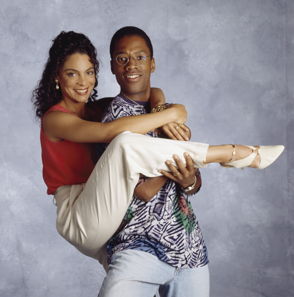 A DIFFERENT WORLD -- SEASON 6 -- Pictured: (l-r) Jasmine Guy as Whitley Marion Gilbert Wayne, Kadeem Hardison as Dwayne Cleophus Wayne -- Photo by: NBCU Photo Bank