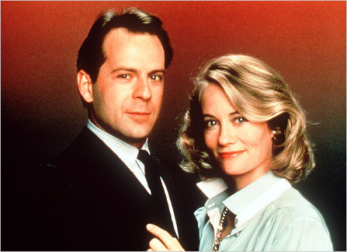 Cybill Shepherd and Bruce Willis star in Moonlighting.