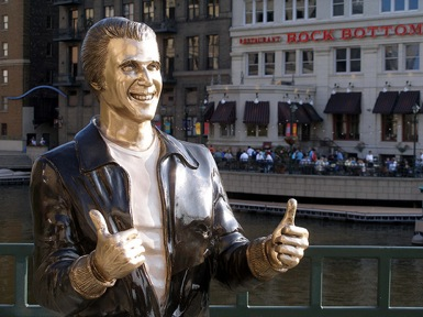Statue of Fonzie in Milwaukee