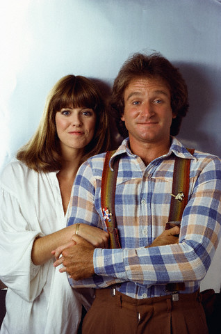 Pam Dawber and Robin Williams of Mork and Mindy
